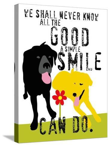 The Good a Simple Smile Can Do-Ginger Oliphant-Stretched Canvas Print
