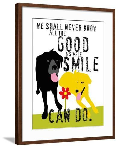 The Good a Simple Smile Can Do-Ginger Oliphant-Framed Art Print