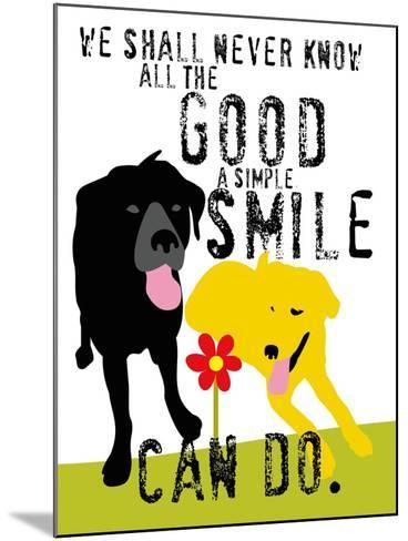 The Good a Simple Smile Can Do-Ginger Oliphant-Mounted Art Print