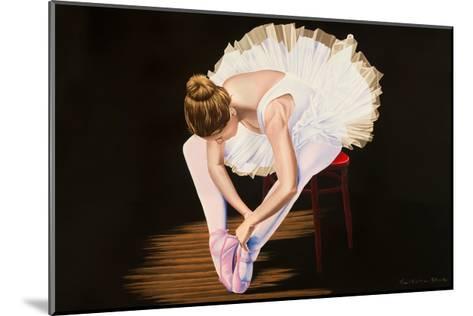 Girl on a Red Stool-Karl Black-Mounted Art Print