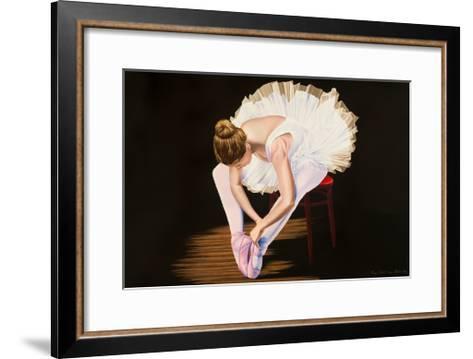 Girl on a Red Stool-Karl Black-Framed Art Print