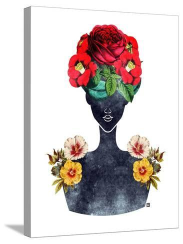 Flower Crown Silhouette III-Tabitha Brown-Stretched Canvas Print