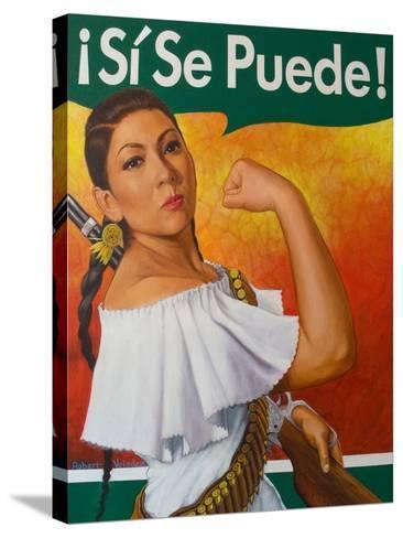 Rosita (¡Sí Se Puede!)-Robert Valadez-Stretched Canvas Print