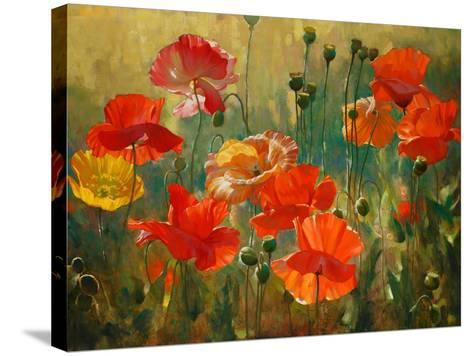 Poppy Fields-Emma Styles-Stretched Canvas Print