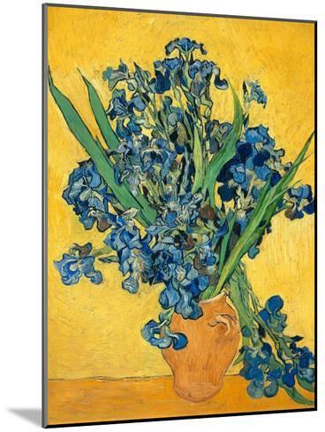 Irises, 1890-Vincent van Gogh-Mounted Art Print
