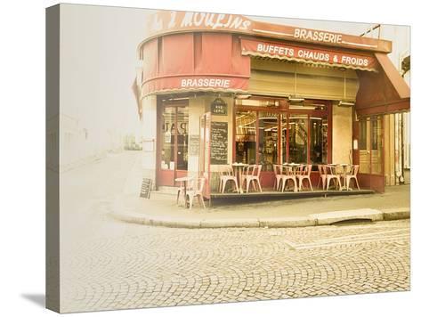 Paris Brasserie-Keri Bevan-Stretched Canvas Print