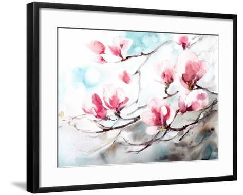Magnolia, Spring- CanotStop-Framed Art Print