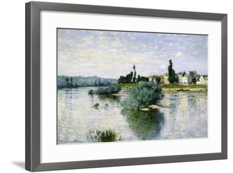 The Seine at Lavacourt-Claude Monet-Framed Art Print