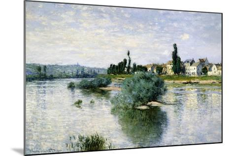 The Seine at Lavacourt-Claude Monet-Mounted Art Print