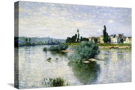 The Seine at Lavacourt-Claude Monet-Stretched Canvas Print