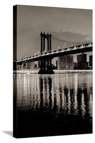 Manhattan Bridge at Night-Alan Blaustein-Stretched Canvas Print