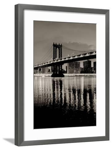 Manhattan Bridge at Night-Alan Blaustein-Framed Art Print