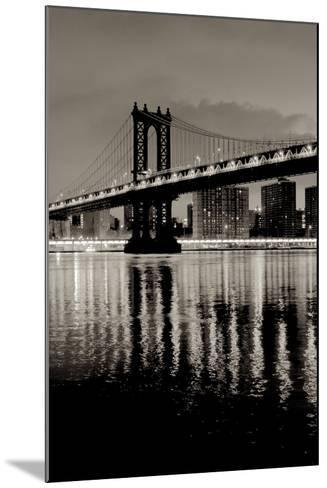 Manhattan Bridge at Night-Alan Blaustein-Mounted Photographic Print