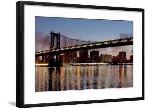 Manhattan Bridge at Dawn-Alan Blaustein-Framed Art Print