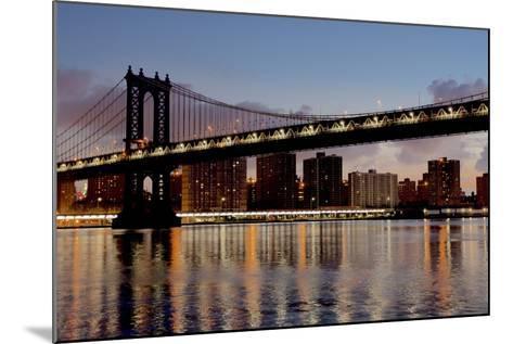 Manhattan Bridge at Dawn-Alan Blaustein-Mounted Photographic Print