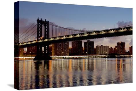 Manhattan Bridge at Dawn-Alan Blaustein-Stretched Canvas Print