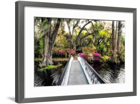 The Garden Bridge-Daniel Burt-Framed Art Print