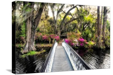 The Garden Bridge-Daniel Burt-Stretched Canvas Print