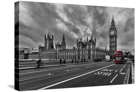 Double Decker, London-Vladimir Kostka-Stretched Canvas Print