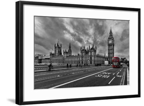 Double Decker, London-Vladimir Kostka-Framed Art Print