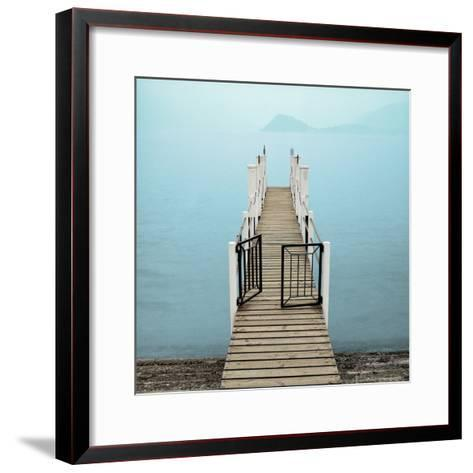 Morning Harbor Launch-Alan Blaustein-Framed Art Print