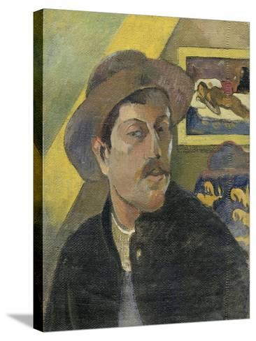 Self Portrait with a Hat-Paul Gauguin-Stretched Canvas Print