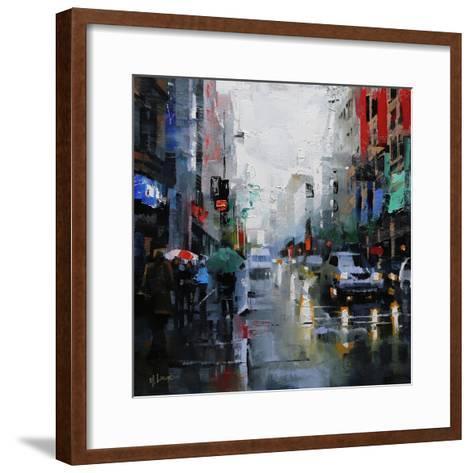 St. Catherine Street Rain-Mark Lague-Framed Art Print