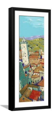 Rooftops of San Gimignano-Jane Henry Parsons-Framed Art Print