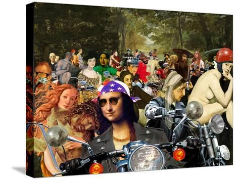 Bikers sur l'herbe-Barry Kite-Stretched Canvas Print