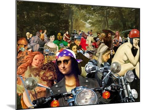 Bikers sur l'herbe-Barry Kite-Mounted Art Print