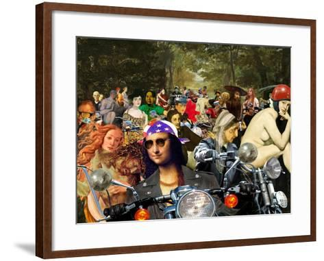 Bikers sur l'herbe-Barry Kite-Framed Art Print