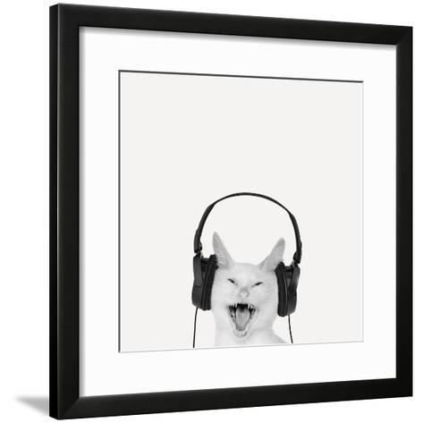 Rockin' Kitten-Jon Bertelli-Framed Art Print
