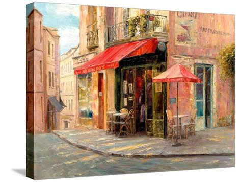 Hillside Café-Haixia Liu-Stretched Canvas Print