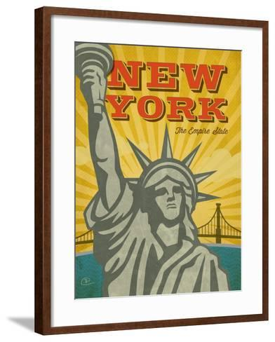 New York – The Empire State-Renee Pulve-Framed Art Print