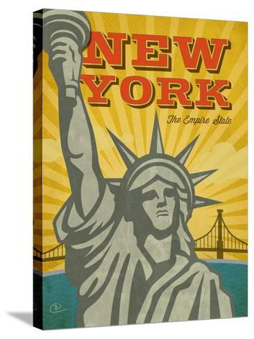 New York – The Empire State-Renee Pulve-Stretched Canvas Print