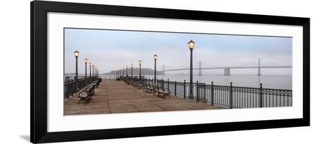 Broadway Pier Pano #112-Alan Blaustein-Framed Art Print