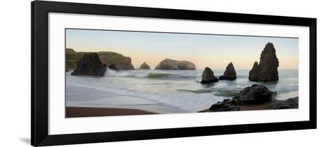Crescent Beach pano #1-Alan Blaustein-Framed Art Print