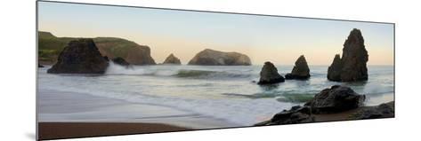 Crescent Beach pano #1-Alan Blaustein-Mounted Photographic Print