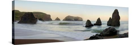 Crescent Beach pano #1-Alan Blaustein-Stretched Canvas Print
