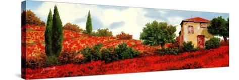 I Papaveri Sulle Colline-Guido Borelli-Stretched Canvas Print