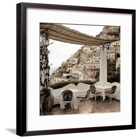 Positano Caffe #1-Alan Blaustein-Framed Art Print