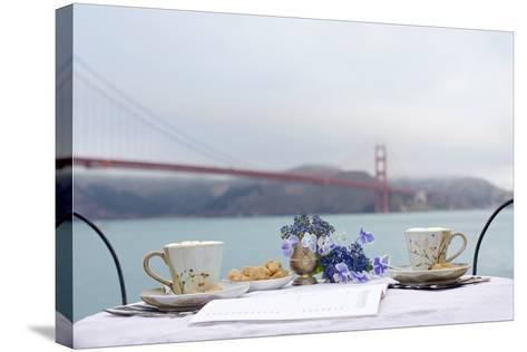 Dream Cafe Golden Gate Bridge #54-Alan Blaustein-Stretched Canvas Print