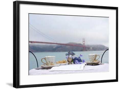 Dream Cafe Golden Gate Bridge #54-Alan Blaustein-Framed Art Print