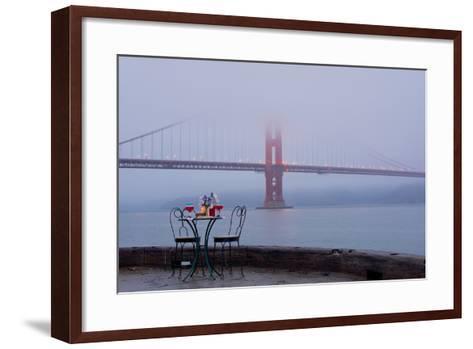 Dream Cafe Golden Gate Bridge #56-Alan Blaustein-Framed Art Print