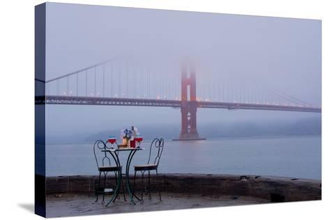 Dream Cafe Golden Gate Bridge #56-Alan Blaustein-Stretched Canvas Print