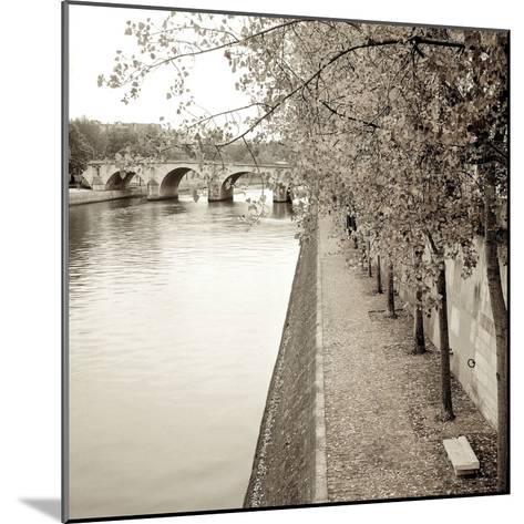 Sepia-Promenade Seine #2-Alan Blaustein-Mounted Photographic Print