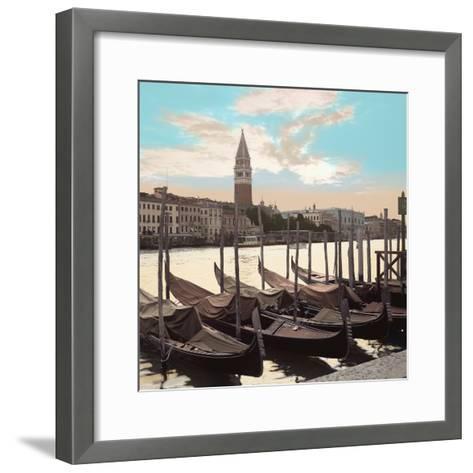 Campanile Vista with Gondolas #1-Alan Blaustein-Framed Art Print