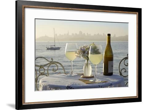 Dream Cafe Golden Gate Bridge #74-Alan Blaustein-Framed Art Print