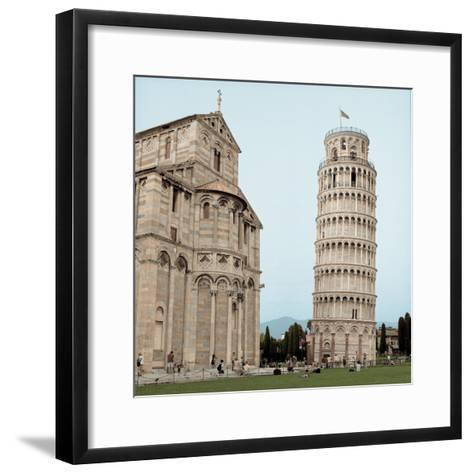 Pisa Tower #1-Alan Blaustein-Framed Art Print