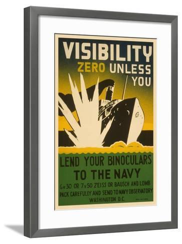 Visibility Zero--Framed Art Print